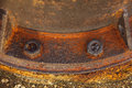 Stock photo old rusty metal nut on iron water valve Stock Images