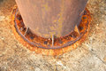 Stock photo old rusty metal nut on iron water valve Stock Image