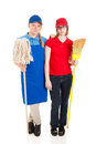 Stock Photo of Serious Teenage Workers Stock Image