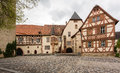 Stock photo tauberbischofsheim germany kurmainz castle with turmersturm tower and tauber franconian museum of rural life in Stock Photo
