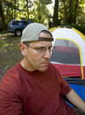 image photo : Stock Photo of an Unhappy Camper