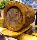 stock image of  Stock photos of golden honey in tree bark