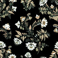 Stock seamless flower, doodle pattern. abstract art backg Royalty Free Stock Photo