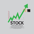 Stock shares raise up vector illustration conceptual eps Stock Image