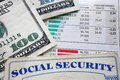Stock and soc sec social security card money market numbers Royalty Free Stock Photography