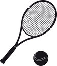 Stock for tennis big sports equipment Royalty Free Stock Images