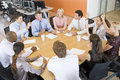 Stock Traders In A Meeting Royalty Free Stock Photo