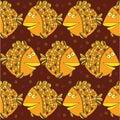 Stock Vector Illustration: seamless fish Royalty Free Stock Photo