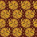 Stock Vector Illustration: seamless snail Royalty Free Stock Photo