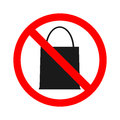 Stock vector of no bag Prohibition for bringing packet bag. Don`t bring anything