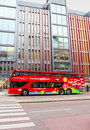 Stockholm bus touristic with city sightseeing hop on hop off all the best attractions of and djurgarden island can be Royalty Free Stock Image