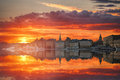 Stockholm is the capital Sweden Royalty Free Stock Photo