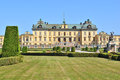 Stockholm drottningholm architecture and formal garden of Stock Image