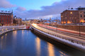 Stockholm Highway dusk Stock Photography