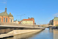 Stockholm. Island Riddarholmen embankment Stock Photography