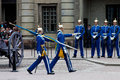 Stockholm july changing of the guard ceremony with the participation of the royal guard cavalry juli in sweden Stock Images