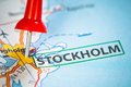 Stockholm on a map Royalty Free Stock Image