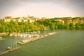 Stockholm marina Royalty Free Stock Photo