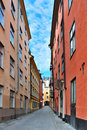 Stockholm. A narrow street Stock Photography