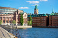 Stockholm old city sweden a view of Royalty Free Stock Images