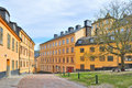 Stockholm. Old  streets in Sodermalm Royalty Free Stock Photo