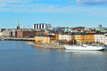 Stockholm riddarholmen sweden view of the island and the area of norrmalm from sodermalm Stock Images
