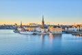 Stockholm Skyline, The Gamla Stan in Stockholm city, Sweden