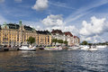 Stockholm in a sunny afternoon Stock Image