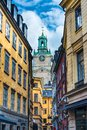 Stockholm sweden alley an alleyway in Stock Photos