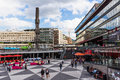 STOCKHOLM, SWEDEN - CIRCA 2016 - Ergels Torg Stockholm Mas Tok is the main shopping district in Stockholm, Sweden.