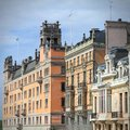 Stockholm sweden norrmalm borough with colorful old architecture square composition Royalty Free Stock Photos