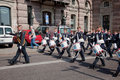 Stockholm, Sweden. A daily royal guard change. Royalty Free Stock Photography