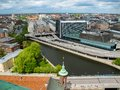 Stockholm Sweden. The view from the observation deck of a modern city and road junctions Royalty Free Stock Photo