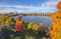 Stockholm view photo of city in autumn Royalty Free Stock Image