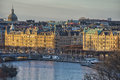 Stockholm view at sunset Royalty Free Stock Photo