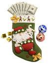 Stocking and Money Royalty Free Stock Image