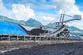 Stockpile of coal at mae moh thailand Royalty Free Stock Photo