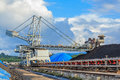 Stockpile of coal at mae moh thailand Royalty Free Stock Photos