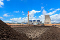 Stockpile of coal in and power plant Royalty Free Stock Photography