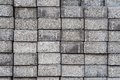 Stockpile of gray pavement bricks side view Stock Photos