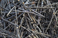 Stockpile of logs closeup the Royalty Free Stock Photography