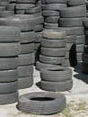 Stockpile of Used Tires.
