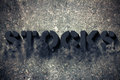 Stocks vanishing word written in d on grunge wall Royalty Free Stock Photography