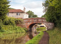 Stoke Pound Bridge, Worcester and Birmingham Canal. Royalty Free Stock Photo