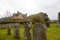 Stokesay Castle in Shropshire on cloudy day Royalty Free Stock Image