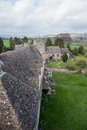 Stokesay Castle in Shropshire on cloudy day Stock Photos