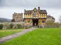 Stokesay Castle in Shropshire on cloudy day Royalty Free Stock Photography