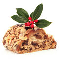 Stollen Christmas Cake Royalty Free Stock Photo