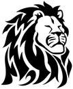 Stolta lion tribal tattoo Royaltyfria Bilder