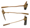 Stone age axe with clipping path Royalty Free Stock Photo
